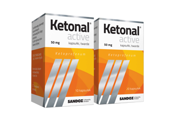 Ketonal Active 50mg 20 kaps.