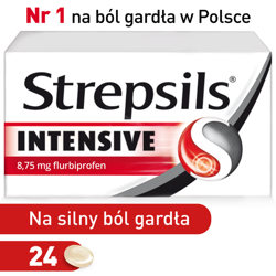 Strepsils Intensive x 24 tabl.do ssania