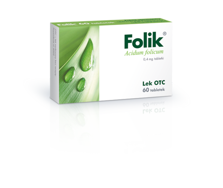 Folik 0,4mg, 60 tabletek