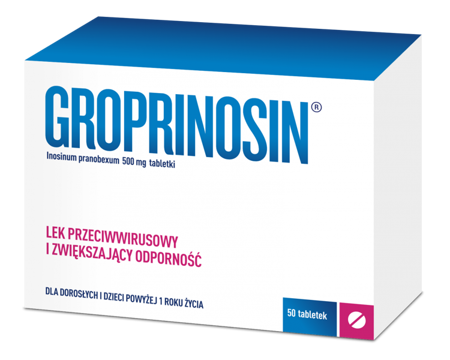 Groprinosin 500 mg 50 tabletek