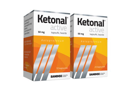 Ketonal Active 50mg 10 kaps.